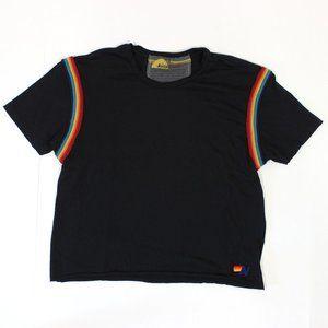Aviator Nation Rainbow Crop Tee Shirt